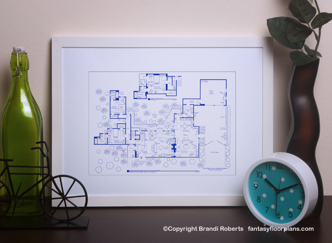 Buy A Poster Of The Two And Half Men House Layout