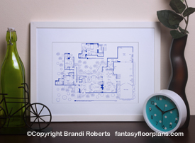 Two and Half Men house floor plan image