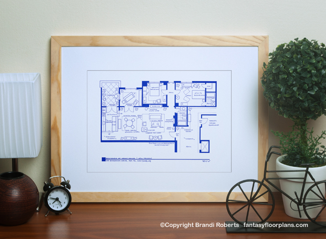 Will and Grace apartment floor plan image