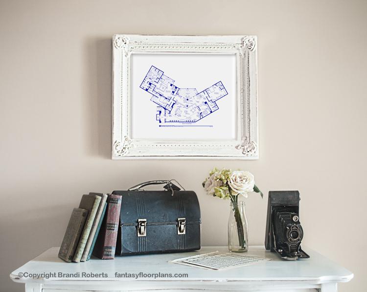 Frasier Apartment Floor Plan Buy A Poster Of Frasier