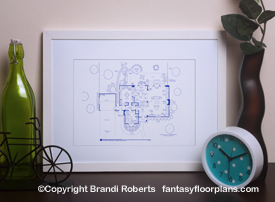 Bewitched House Floor Plan: 1st Floor