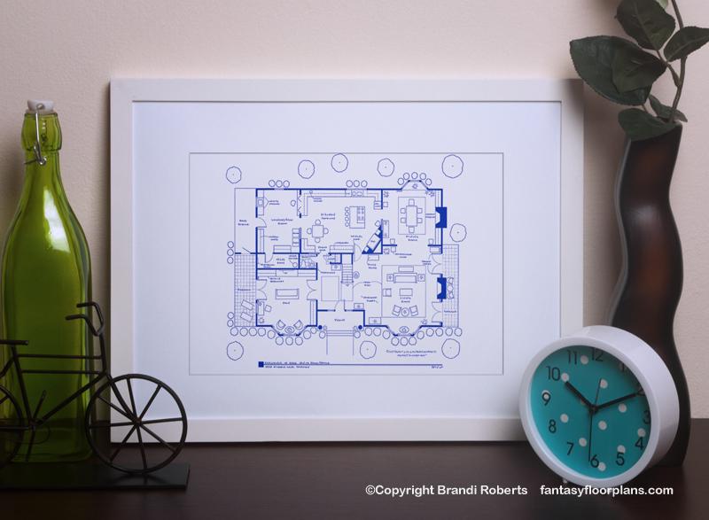 Fantasy Floorplan for Desperate HousewifeResidence of Bree Hodge – Bree Van De Kamp House Floor Plan
