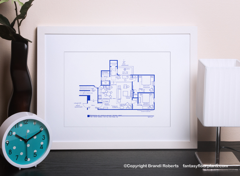 Friends Apartment Layout | Buy a Poster of Monica and Rachel's floor on ryan homes plans, victoria homes plans, elizabeth homes plans, jordan homes plans,